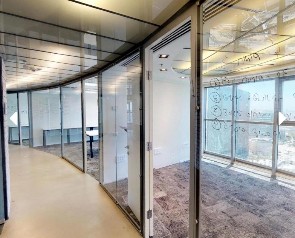 510 מ״ר משרדי הייטק להשכרה במגדל משרדים איכותי.